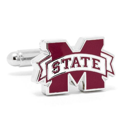 Mississippi State Bulldogs Enamel Cufflinks-Cufflinks-Cufflinks, Inc.-Top Notch Gift Shop
