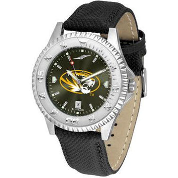 Missouri Tigers Competitor AnoChrome - Poly/Leather Band Watch