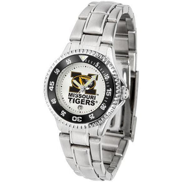 Missouri Tigers Ladies Competitor Steel Band Watch