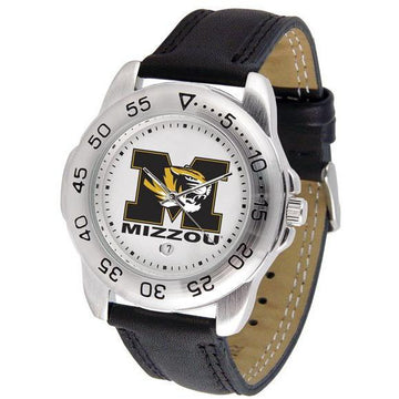 Missouri Tigers Mens Leather Band Sports Watch