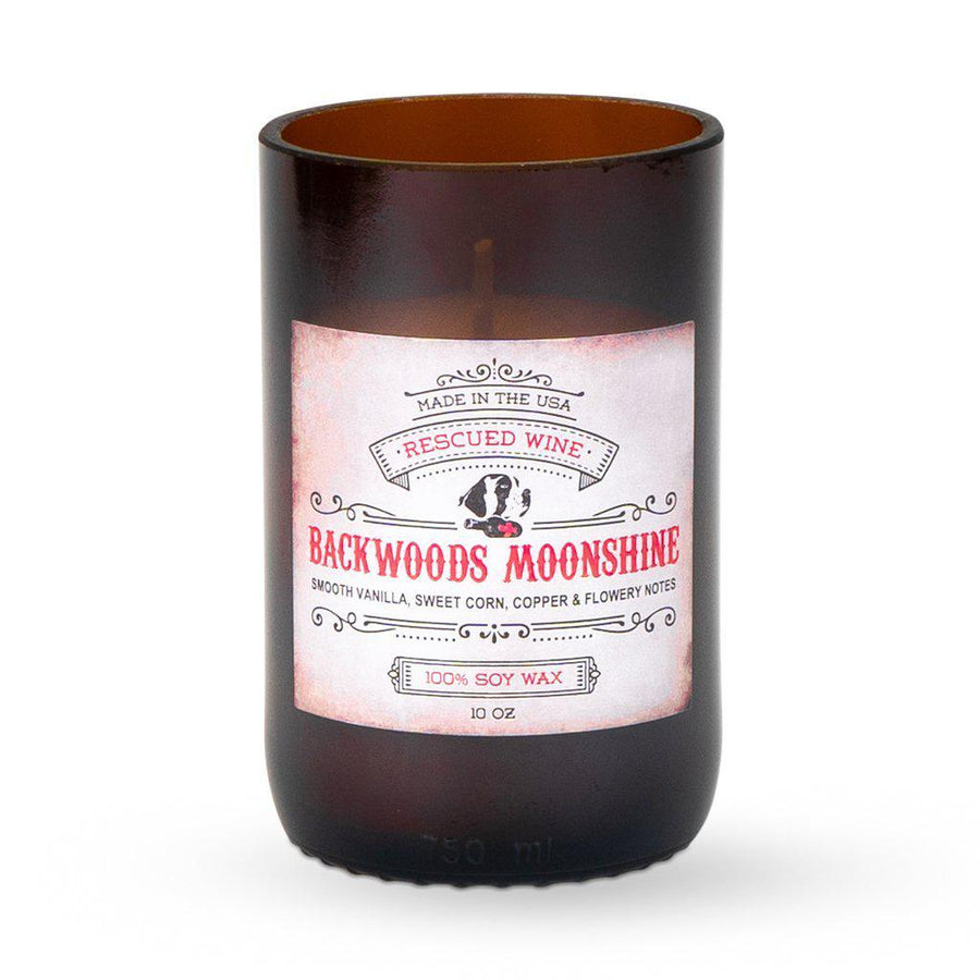 Backwoods Moonshine Scented Long Burn Soy Candle-Candle-Rescued Wine-Top Notch Gift Shop