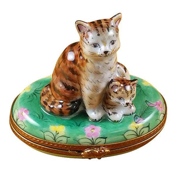 Mother Cat W/Baby Limoges Box by Rochard™