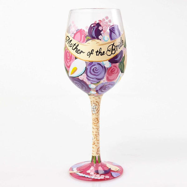 Mother of the Bride Wine Glass by Lolita®-Wine Glass-Designs by Lolita® (Enesco)-Top Notch Gift Shop