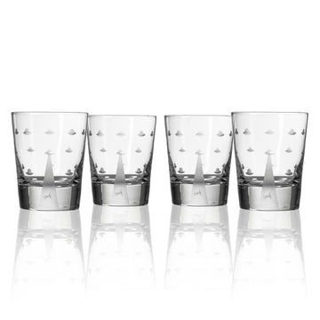 Mothership Double Old Fashioned Glasses - Set of 4