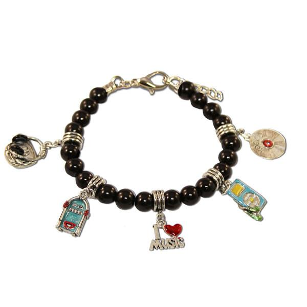 Music Lover Charm Bracelet in Silver-Whimsical GiftsTop Notch Gift Shop