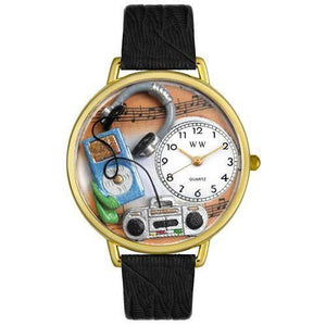 Music Lover Watch in Gold (Large)-Watch-Whimsical Gifts-Top Notch Gift Shop