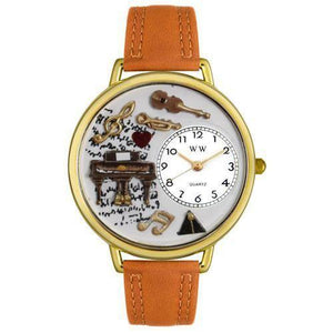 Music Piano Watch in Gold (Large)-Watch-Whimsical Gifts-Top Notch Gift Shop