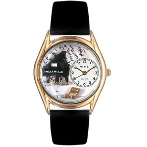 Music Piano Watch Small Gold Style-Watch-Whimsical Gifts-Top Notch Gift Shop