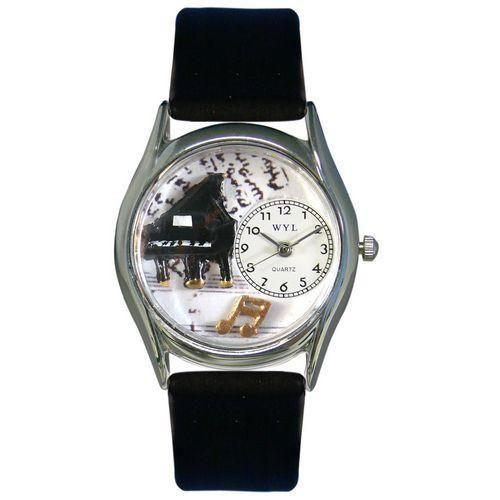 Music Piano Watch Small Silver Style-Watch-Whimsical Gifts-Top Notch Gift Shop