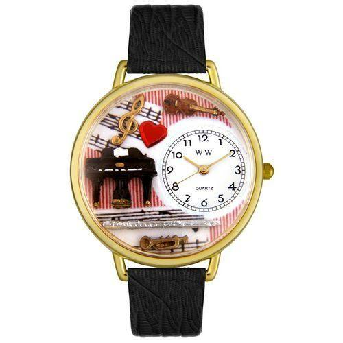 Music Teacher Watch in Gold (Large)-Watch-Whimsical Gifts-Top Notch Gift Shop
