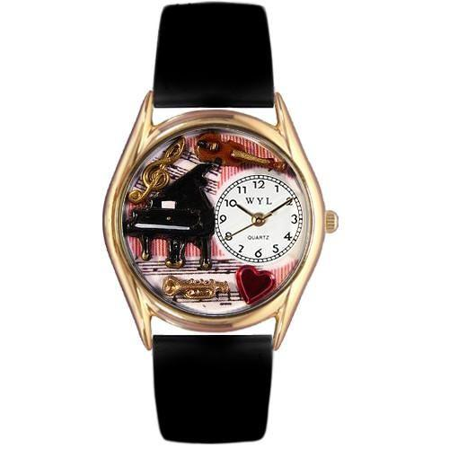 Music Teacher Watch Small Gold Style-Watch-Whimsical Gifts-Top Notch Gift Shop