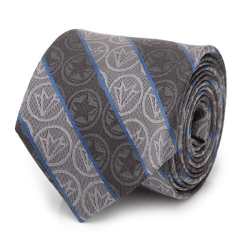 Winter Soldier and Falcon Gray Men's Tie