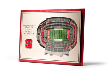 North Carolina State Wolfpack 5 Layer Stadiumview 3D Wall Art