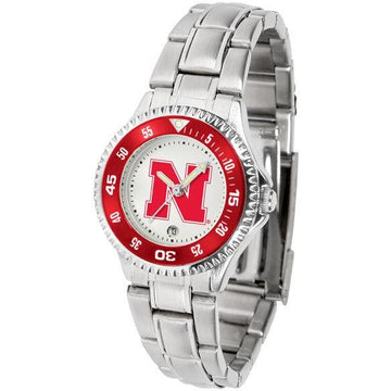 Nebraska Cornhuskers Ladies Competitor Steel Band Watch