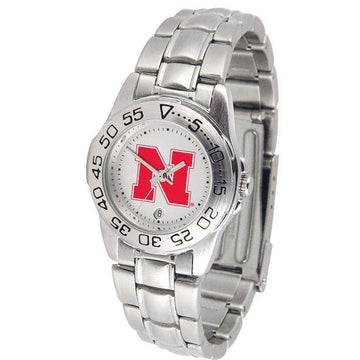 Nebraska Cornhuskers Ladies Steel Band Sports Watch