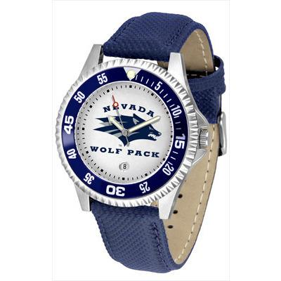 Nevada Wolfpack Competitor - Poly/Leather Band Watch-Watch-Suntime-Top Notch Gift Shop