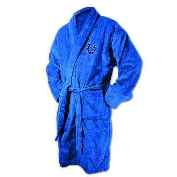 New England Patriots Royal Terrycloth Bathrobe