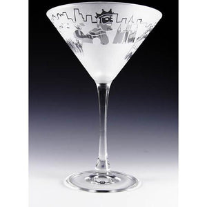 New Orleans Mardi Gras Martini Glass (Set of 2)-Martini Glass-Asta Glass-Top Notch Gift Shop