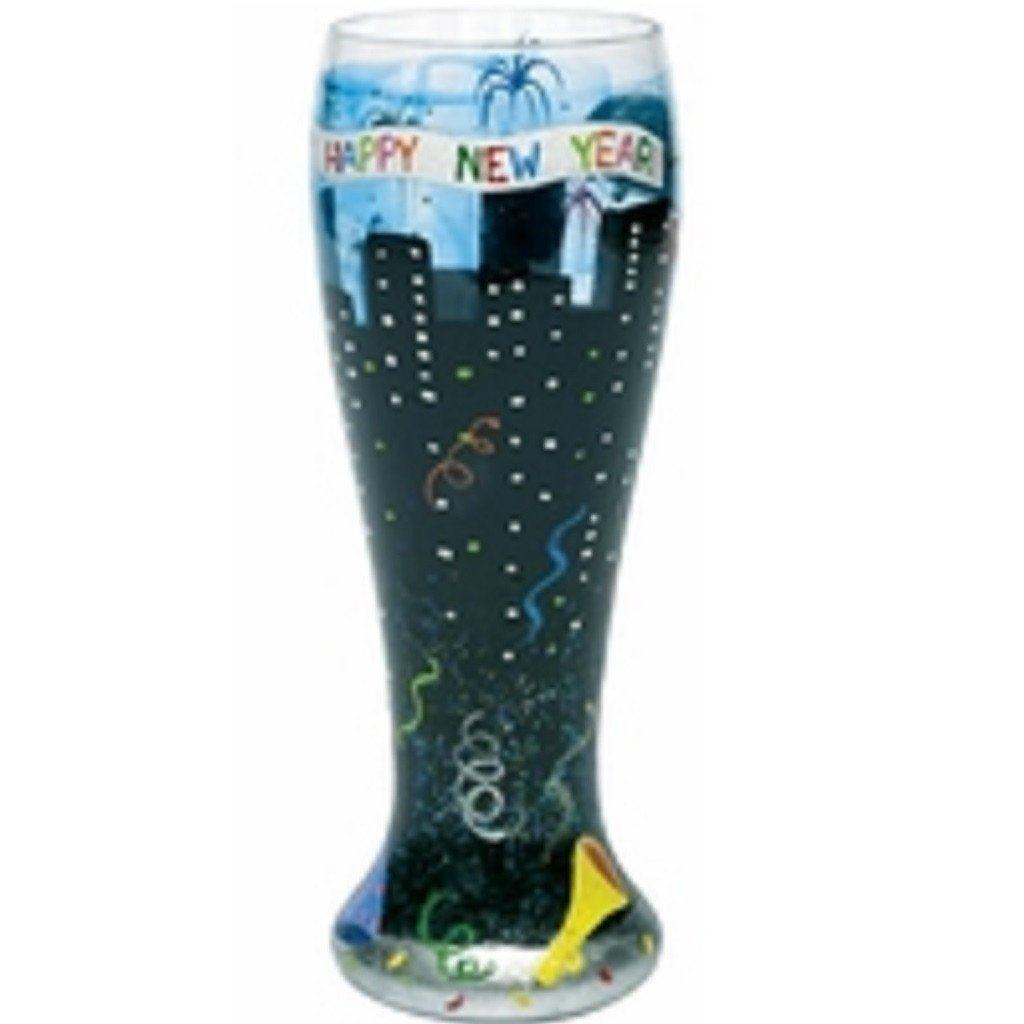 New Years Pilsner Glass by Lolita®-Pilsner Glass-Designs by Lolita® (Enesco)-Top Notch Gift Shop