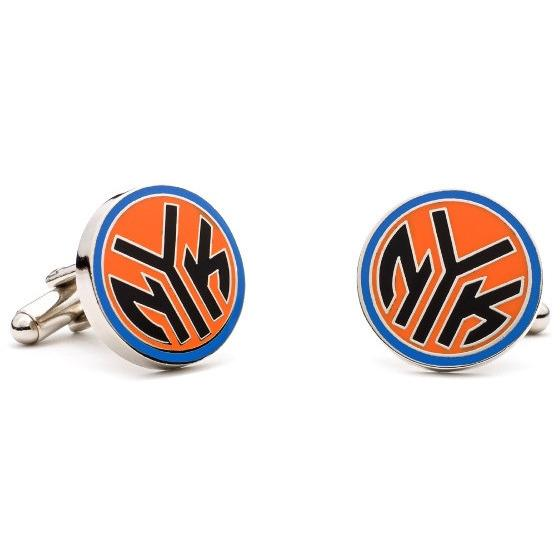 New York Knicks Enamel Cufflinks-Cufflinks-Cufflinks, Inc.-Top Notch Gift Shop