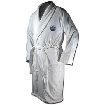 New York Mets White Terrycloth  Bathrobe