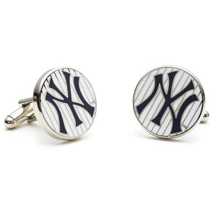 New York Yankees Pinstripe Enamel Cufflinks-Cufflinks-Cufflinks, Inc.-Top Notch Gift Shop