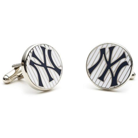 New York Yankees Pinstripe Enamel Cufflinks-Cufflinks, Inc.-Top Notch Gift Shop