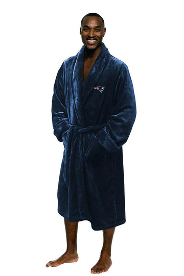 New England Patriots Men's Silk Touch Plush Bath Robe