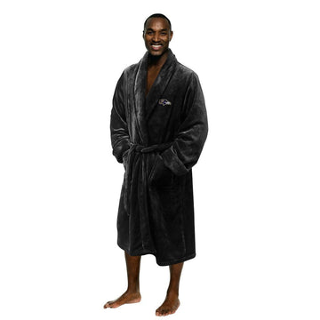 Baltimore Ravens Men's Silk Touch Plush Bath Robe