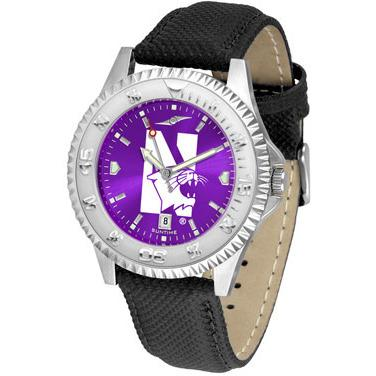 Northwestern Wildcats Competitor AnoChrome - Poly/Leather Band Watch-Watch-Suntime-Top Notch Gift Shop