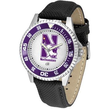 Northwestern Wildcats Competitor - Poly/Leather Band Watch-Watch-Suntime-Top Notch Gift Shop