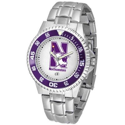 Northwestern Wildcats Competitor - Steel Band Watch-Watch-Suntime-Top Notch Gift Shop