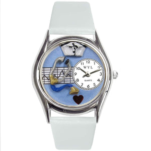 Nurse Blue Watch Small Silver Style-Watch-Whimsical Gifts-Top Notch Gift Shop