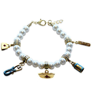 Nurse Charm Bracelet in Gold-Bracelet-Whimsical Gifts-Top Notch Gift Shop