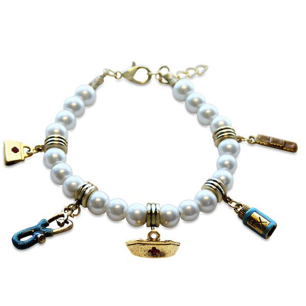 Nurse Charm Bracelet in Gold-Whimsical GiftsTop Notch Gift Shop
