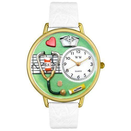 Nurse Green Watch in Gold (Large)-Watch-Whimsical Gifts-Top Notch Gift Shop