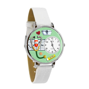 Nurse Green Watch in Silver (Large)-Watch-Whimsical Gifts-Top Notch Gift Shop