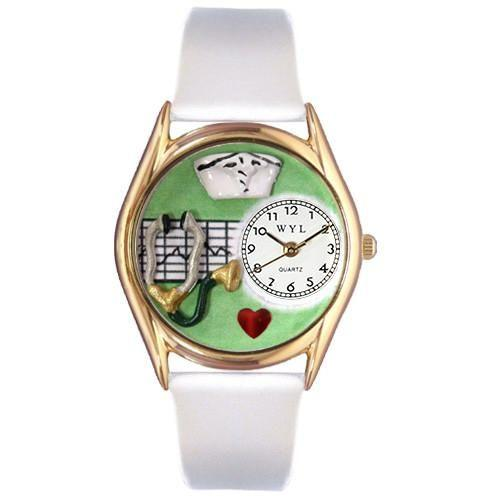 Nurse Green Watch Small Gold Style-Watch-Whimsical Gifts-Top Notch Gift Shop