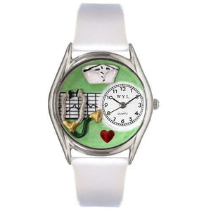 Nurse Green Watch Small Silver Style-Watch-Whimsical Gifts-Top Notch Gift Shop