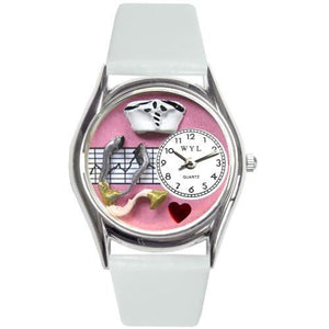Nurse Pink Watch Small in Silver-Watch-Whimsical Gifts-Top Notch Gift Shop