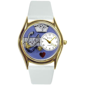 Nurse Purple Watch Small Gold Style-Watch-Whimsical Gifts-Top Notch Gift Shop