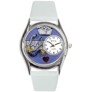 Nurse Purple Watch Small Silver Style-Watch-Whimsical Gifts-Top Notch Gift Shop
