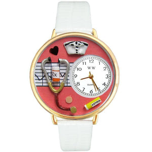 Nurse Red Watch in Gold (Large)-Watch-Whimsical Gifts-Top Notch Gift Shop