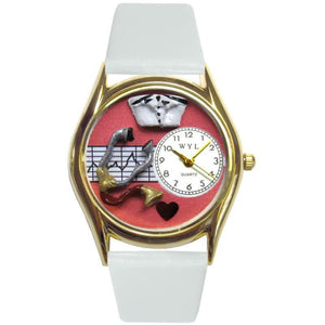Nurse Red Watch Small Gold Style-Watch-Whimsical Gifts-Top Notch Gift Shop