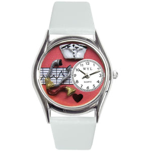 Nurse Red Watch Small Silver Style-Watch-Whimsical Gifts-Top Notch Gift Shop