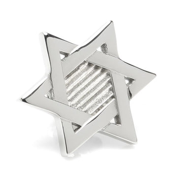 Star of David Stainless Steel Lapel Pin