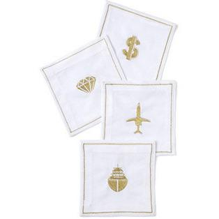 Obnoxious Affluence Linen Napkins - Set of 4-Bar Tool-Slant-Top Notch Gift Shop