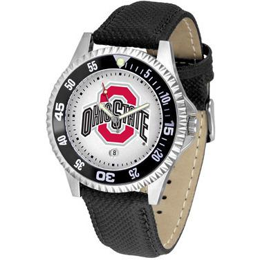 Ohio State Buckeyes Competitor - Poly/Leather Band Watch-Watch-Suntime-Top Notch Gift Shop