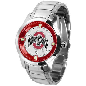 Ohio State Buckeyes Men's Titan Stainless Steel Band Watch-Watch-Suntime-Top Notch Gift Shop