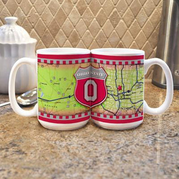 "Ohio State University ""Road To"" Mug -  (Set of 2)"